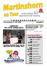 Lagerzeitung Ausgabe 6 - 23.07.2009 - Jugendfeuerwehr Hamburg