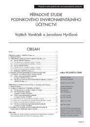 Případové studie podnikového environmentálního účetnictví
