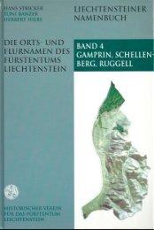 Bd. 4: Gamprin, Schellenberg, Ruggell - Historischer Verein für das ...
