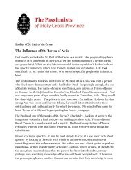 The Influence of St. Teresa of Avila - The Passionists of Holy Cross ...