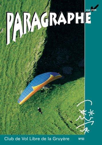 AA-Paragraphe 1-2006 - Club vol libre Gruyère, Fribourg