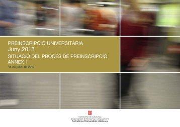 Annex 1 i 2 Preinscripció 2013 - Premsa - Generalitat de Catalunya