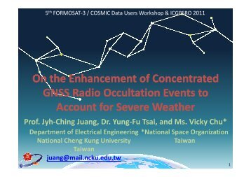 On the Enhancement of Concentrated GNSS Radio Occultation ...