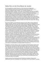 Matteo Ricci und die China-Mission der Jesuiten