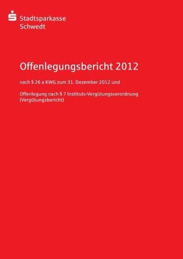 Offenlegungsbericht 2012 - Stadtsparkasse Schwedt