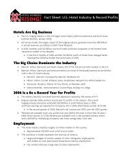 Record Profits Fact Sheet - Hotel Workers Rising