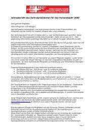 Jahresbericht Zentralpräsident 2009 - Sprengverband Schweiz SVS
