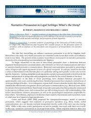 Narrative Persuasion in Legal Settings - The Jury Expert