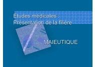ETUDES DE SAGE FEMMES MAIEUTIQUE - Timone.univ-mrs.fr