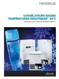 congélateurs basses températures herafreeze - Wenk Lab Tec
