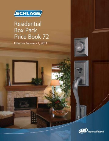 Residential Box Pack Price Book 72 - Top Notch Distributors, Inc.