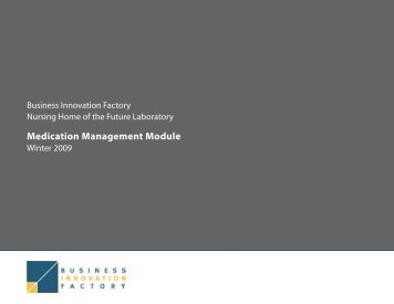 Medication Management Module - Business Innovation Factory