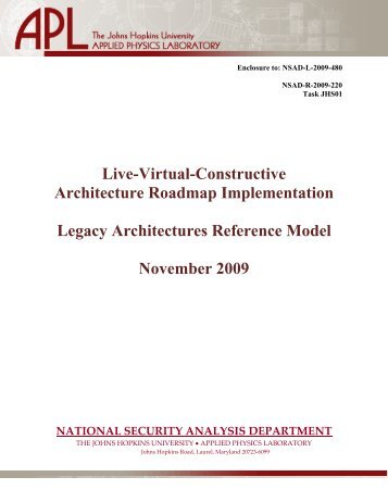 LVCAR-I Legacy Architectures Reference Model - Modeling ...