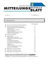 Mitteilungsblatt November 2013 [PDF, 602 KB] - Neerach