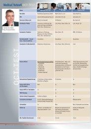Medical Network 2011-09 Seiten 64-65 OCT Tabelle 1