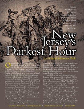New Jersey Darkest Hour - [Peck-1].qxd - Garden State Legacy