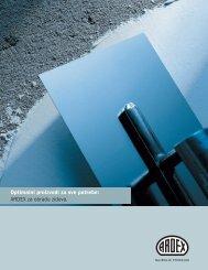 Optimalni proizvodi za sve potrebe: ARDEX za obradu zidova.