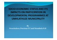 Socio-economic Status and Its impact on Participation in ...