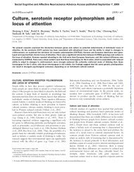 Culture, serotonin receptor polymorphism and locus of attention