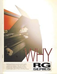 Amada RG Press Brake Brochure - Sterling Machinery