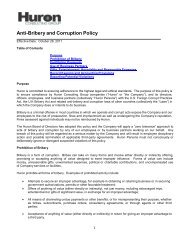 Anti-Bribery and Corruption Policy - Huron Consulting Group