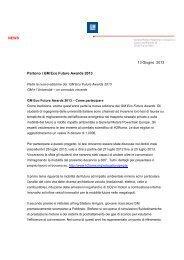 Il bando del GM Eco Future Awards 2013 - Politecnico di Torino