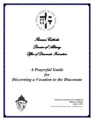 Guide to Prayerfully Discern a Vocation to the Diaconate - Roman ...