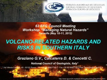 Volcano-related hazards and risks in southern Italy