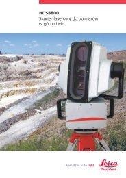 HDS8800 Skaner laserowy do pomiarów w górnictwie - Leica ...