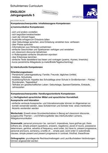 Kompetenzmodell für Englisch Klasse 9 und 10 - Königin-Luise ...