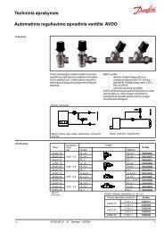 Automatinio reguliavimo apvadinis ventilis AVDO - Danfoss