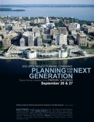 planningfor generation - American Planning Association, Wisconsin ...