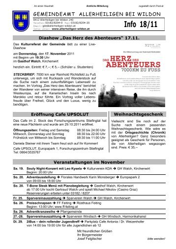 Gemeinde-Info 18/2011 - Gemeinde Allerheiligen bei Wildon