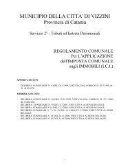 Regolamento Imposta Comunale sugli Immobili - Comune di Vizzini