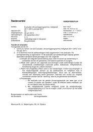 Raadsvoorstel Uitvoeringsprogramma - Gemeente Venlo