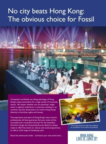 No city beats Hong Kong: The obvious choice for Fossil