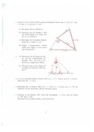 1. Gegeben ist ein Viereck ABCD (siehe nachfolgende Skizze) mit a ...