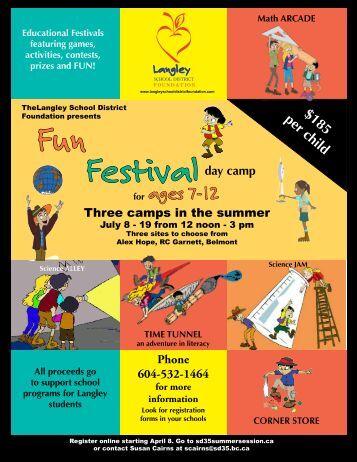 Fun Festival Day Camps - School District #35