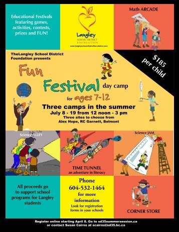 Fun Festival Day Camps - School District #35