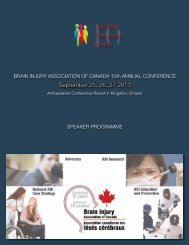 Speaker Program - The Brain Injury Association of Canada