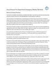 City of Hoover Fire Department Emergency Medical Services