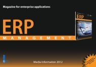 Magazine for enterprise applications Media ... - GITO Verlag