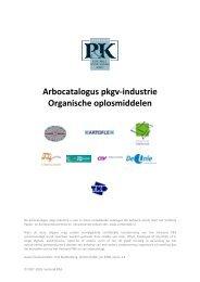 Arbocatalogus Organische oplosmiddelen - Verbond P&K