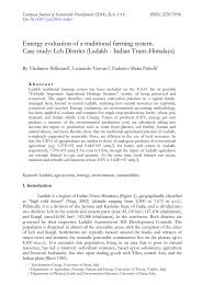 Emergy evaluation of a traditional farming system. Case study: Leh District (Ladakh - Indian Trans-Himalaya)
