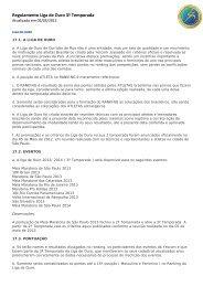 Regulamento Liga de Ouro 3ª Temporada - Yescom