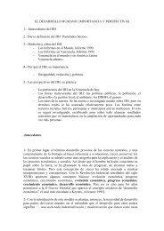 EL DESARROLLO HUMANO: IMPORTANCIA Y PERSPECTIVAS 1 ...