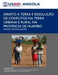 direito a terra e resolução de conflitos na terra urbana e rural na ...