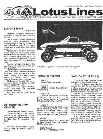 Jul-Aug - Evergreen Lotus Car Club