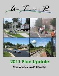 2011 Plan Update - Town of Apex