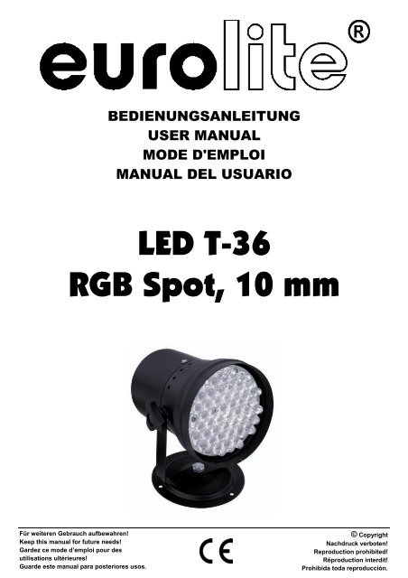 Eurolite led par-64 rgb spot short user manual ljudia.